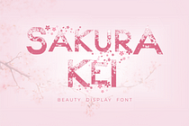 Sakura Kei Font (FREE), Font Bunga Sakura yang Berguguran