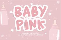 Baby Pink Font (FREE), Font yang Lucu & Menggemaskan