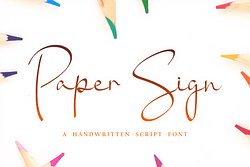 Paper Sign Font (FREE), Classic Calligraphy with Unique Rounds