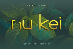 Nu Kei Font (FREE), Clean Futuristic Typography
