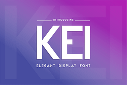 Kei Font (FREE), Font Bold dengan Gaya Modern Futuristik