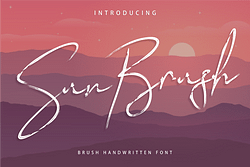 Sun Brush Font (FREE), a Fun Script with a Unique Style