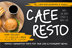 Caferesto Font (FREE), Make the Menu Easier and More Fun