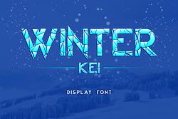 Winter Kei Font (FREE), Font Bold Bernuansa Es Retak di Musim Dingin