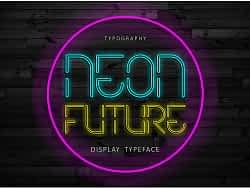 Neon Future Font (FREE), Retro-Futuristic Neon Lights