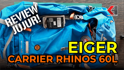 Tas EIGER Carrier Rhinos 60L Backpack (Unboxing & Review)